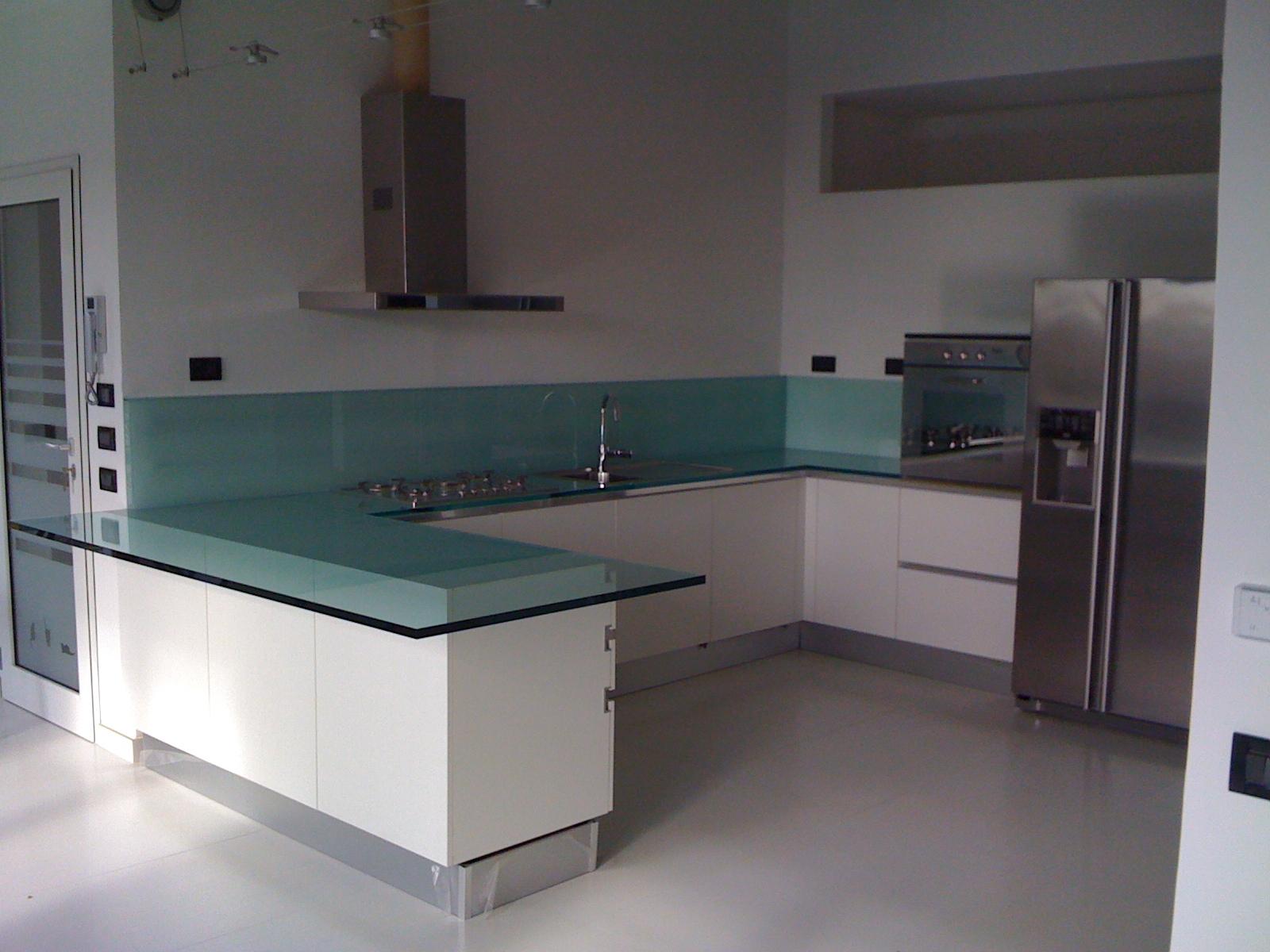 V t b arredamenti italiano cucina top vetro - Top cucina in vetro ...